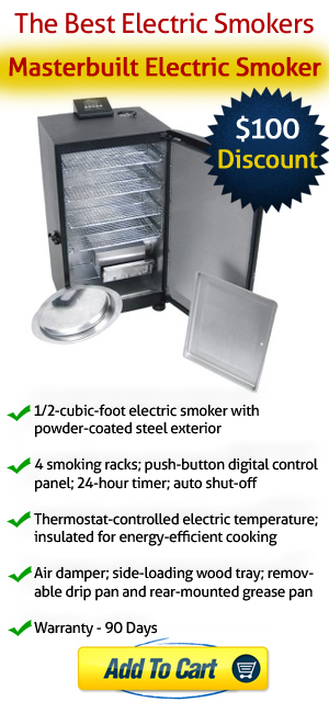 The Best Electric Smokers - $100 discount on Masterbuilt Electric Smoker